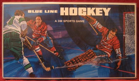 3M BLUE LINE HOCKEY game box 1970