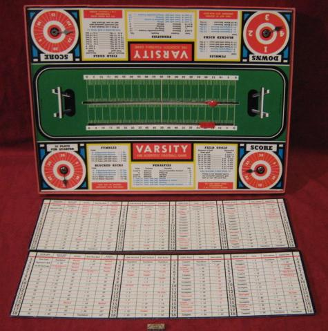 Cadaco Varsity Scientific Football Game Parts 1951