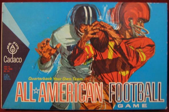 Cadaco All American Football Game box 1965