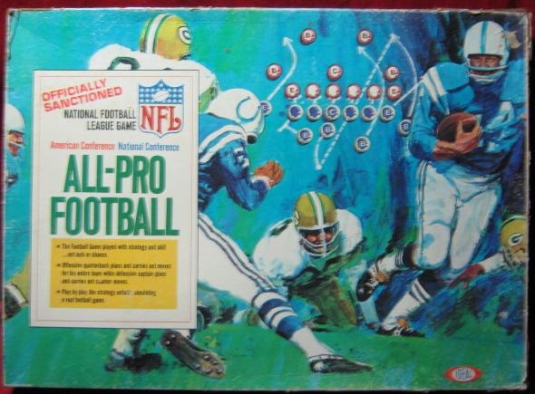 IDEAL ALL PRO FOOTBALL GAME BOX