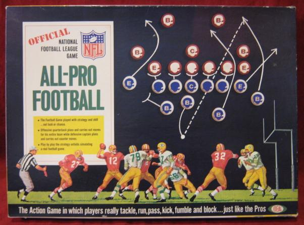 IDEAL ALL PRO FOOTBALL GAME BOX 1967