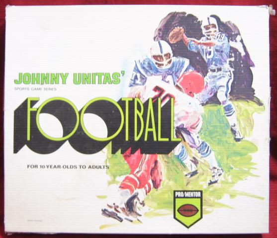 pro mentor johnny unitas football game box