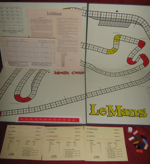 Avalon Hill Le Mans Game Parts 1961