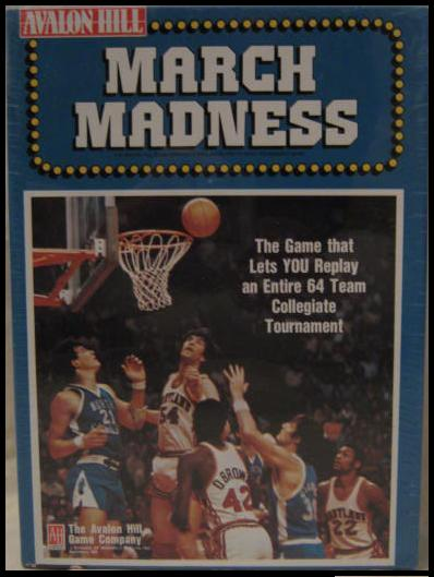 Avalon Hill March Madness Game Box 1990