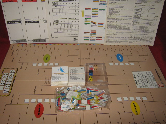 Avalon Hill March Madness Game Parts 1990
