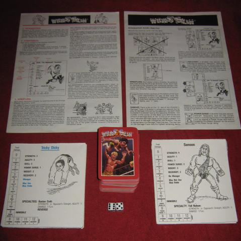 Avalon Hill Wrasslin Game Parts