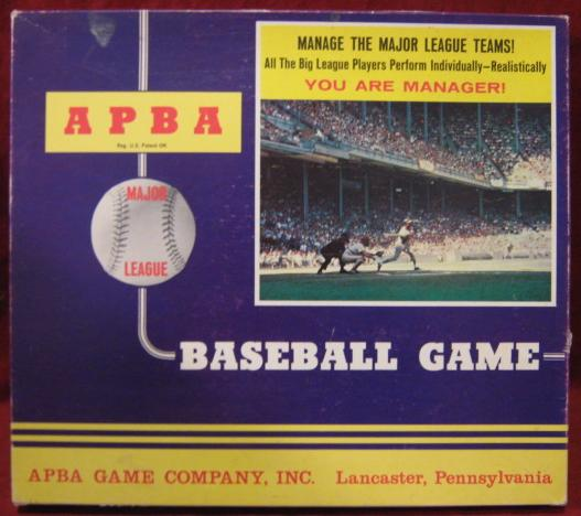 apba baseball game box