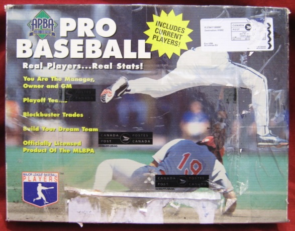 apba baseball game box 1998