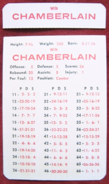 apba basketball game card 1965-66