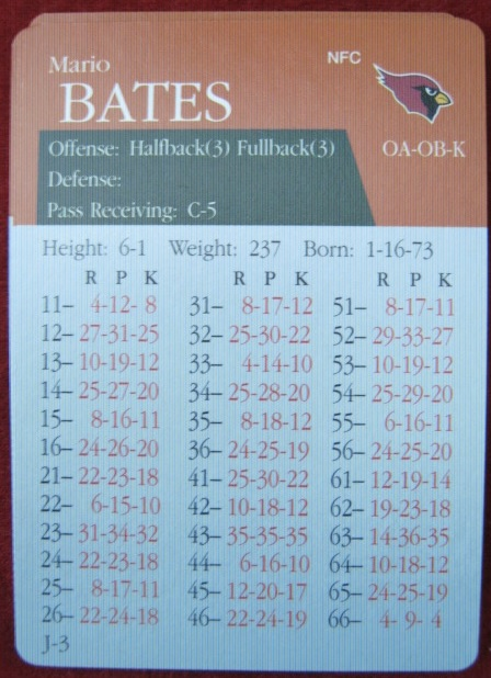 apba football game card 1999