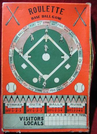 Bartholomae Roulette Base Ball game 1929