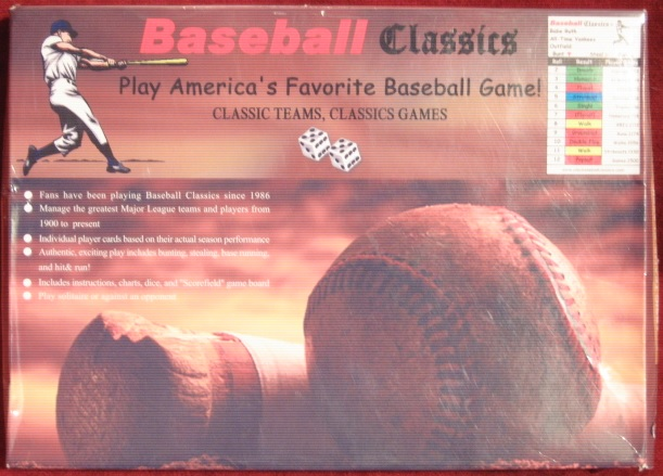 BASEBALL CLASSICS Game with 2004 season cards