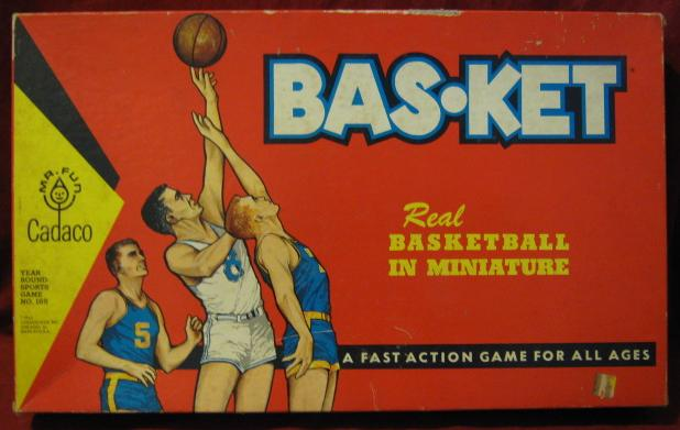 Cadaco Bas-Ket Basketball Game box 1962