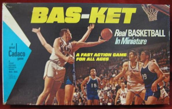 Cadaco Bas-Ket Basketball Game box 1969