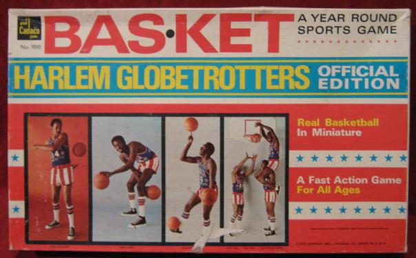 Cadaco Bas-Ket Basketball Game box Harlem Globetrotters