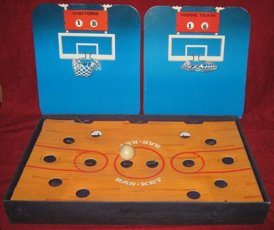 Cadaco Bas-Ket Basketball Game Parts 1969