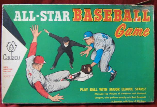 Cadaco All Star Baseball Game box 1965