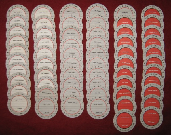 Cadaco All Star Baseball Game Discs 1977B