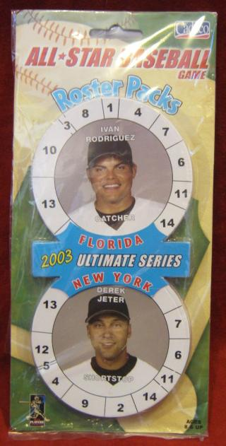 Cadaco All Star Baseball Game 2003 Yankees Marlins Roster Pack