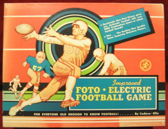 Cadaco Foto-Electric Football Game box 1958