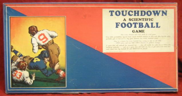 cadaco touchdown football game box