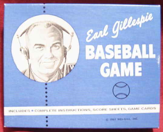 EARL GILLESPIE Baseball card game 1961