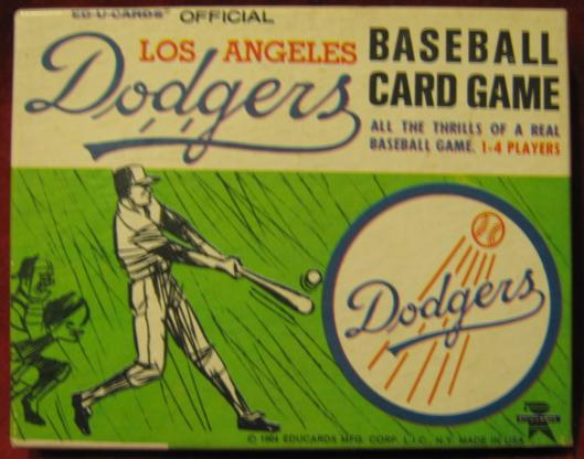 Ed-U-Cards LOS ANGELES DODGERS Baseball Game 1964