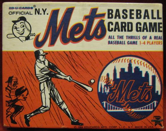 Ed-u-cards NEW YORK METS Game 1964 box
