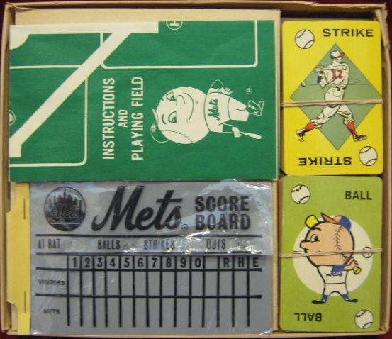 ed-u-cards New York Mets baseball game parts 1961