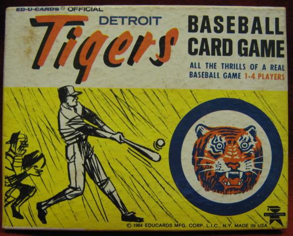 ed-u-cards detroit tigers baseball game box