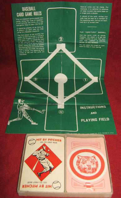 ed-u-cards detroit tigers baseball game parts