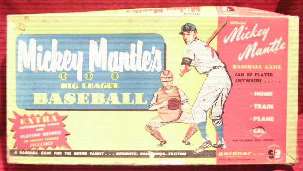 Gardner MICKEY MANTLE BIG LEAGUE Baseball Game 1957