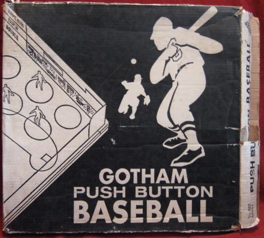 Gotham PUSH BUTTON BASEBALL Game 1956