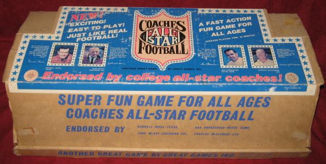 great games coaches all star football game box