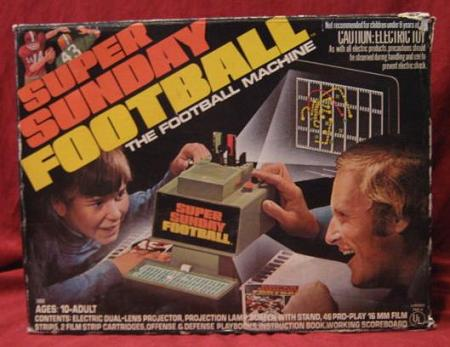 hasbro super sunday football game box 1973
