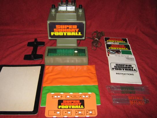 hasbro super sunday football game parts 1973
