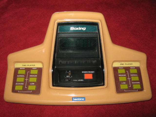 bambino boxing handheld electronic game console front
