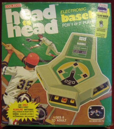 COLECO HEAD TO HEAD BASEBALL HANDHELD ELECTRONIC GAME