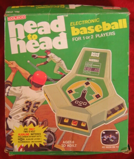 coleco head-to-head baseball handheld electronic game box front