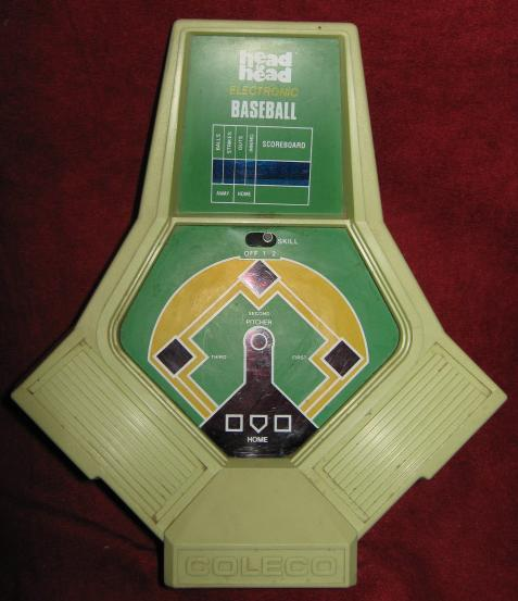 coleco head-to-head baseball handheld electronic game console back