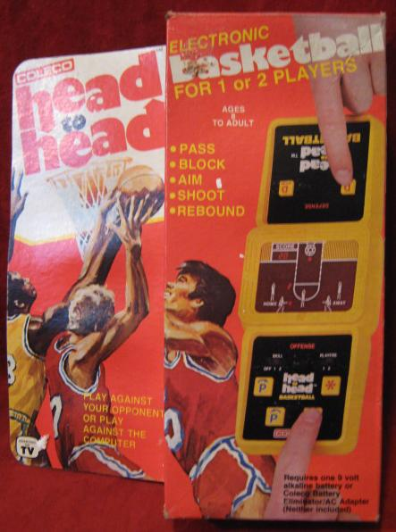 Coleco Head To Head BASKETBALL handheld electronic game with box