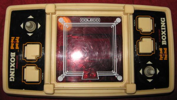 coleco head to head boxing handheld electronic game console front