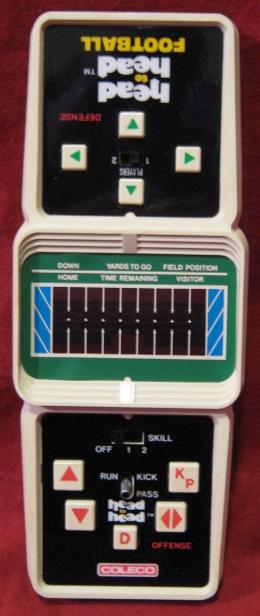 coleco head to head football handheld electronic game console front