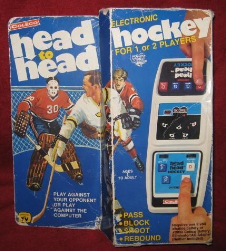 Coleco Head To Head Hockey handheld electronic game