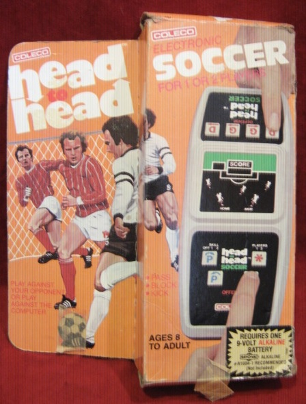 Coleco Head To Head SOCCER handheld electronic game with box
