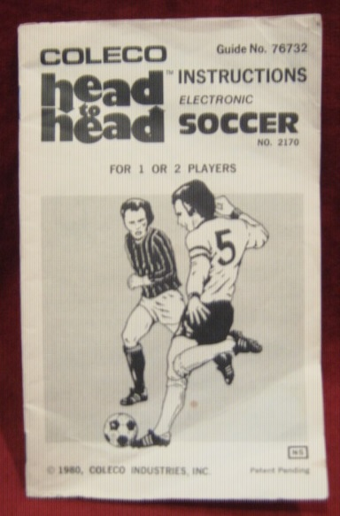 coleco head to head soccer handheld electronic game parts