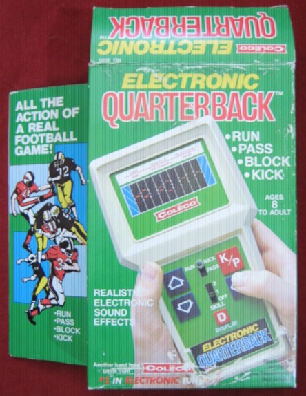 coleco electronic quarterback handheld football game box front