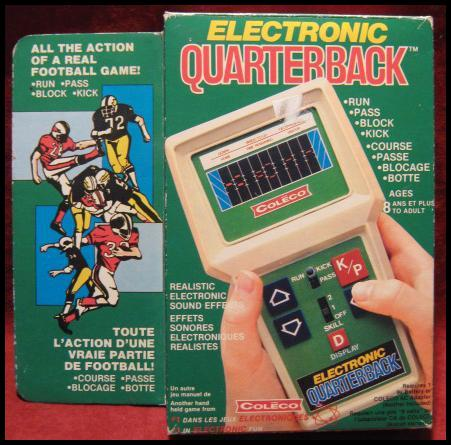 COLECO ELECTRONIC QUARTERBACK HANDHELD ELECTRONIC GAME