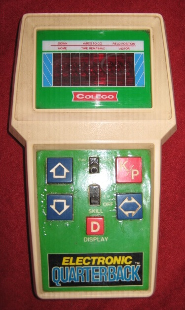 coleco quarterback handheld electronic game console front