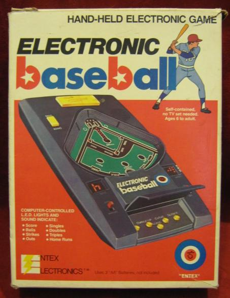 ENTEX BASEBALL 2 Electronic Handheld Game cib